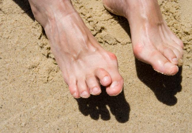 feet on sand