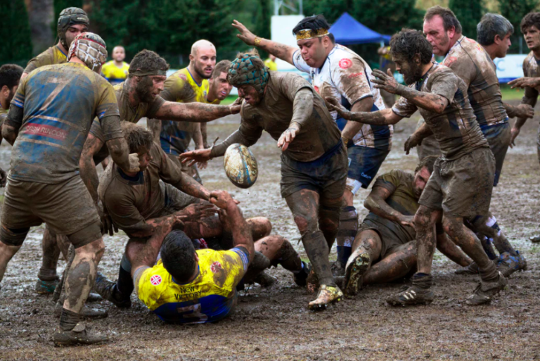 men playing rugby